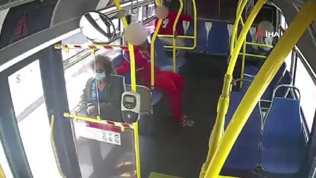 ABD'de otobüsteki genç, kadın yolcunun saçlarını yaktı