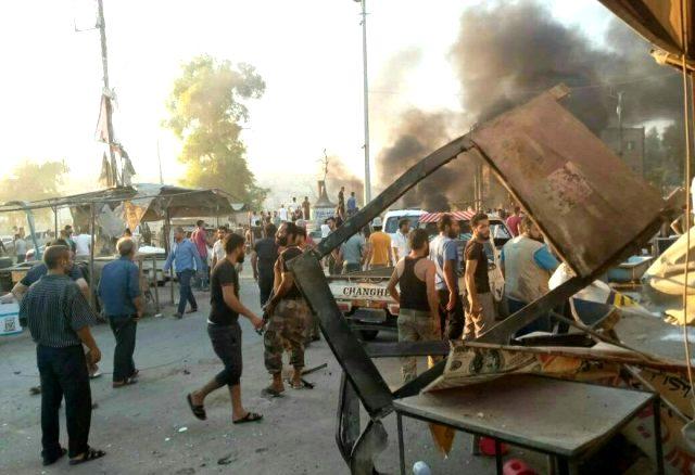 Afrin'de 7 kişinin hayatını kaybettiği bombalı saldırının görüntüleri ortaya çıktı