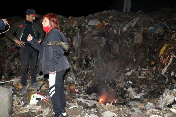 Ankara'da, çöplükte yanmış köpek ölüsü bulundu