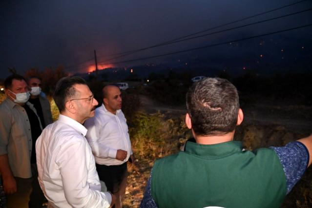 Aydın Valisi Aksoy, Çine'deki yangını değerlendirdi