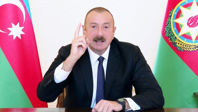 Azerbaycan Cumhurbaşkanı Aliyev: Vakit kaybına tahammülümüz yok, ordumuz daha hızlı ilerleyecek