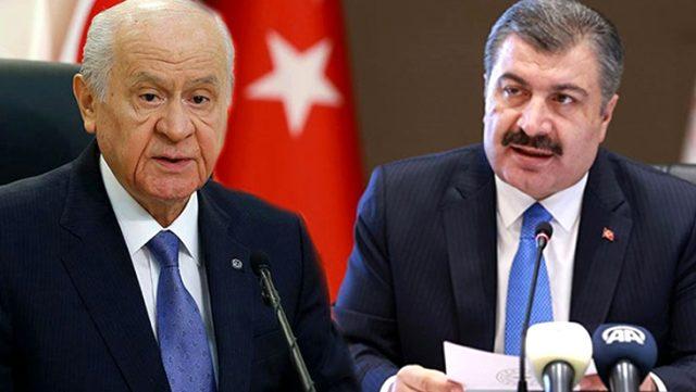 Bakan Koca, MHP lideri Bahçeli'ye kendisine verdiği destekten dolayı teşekkür etti