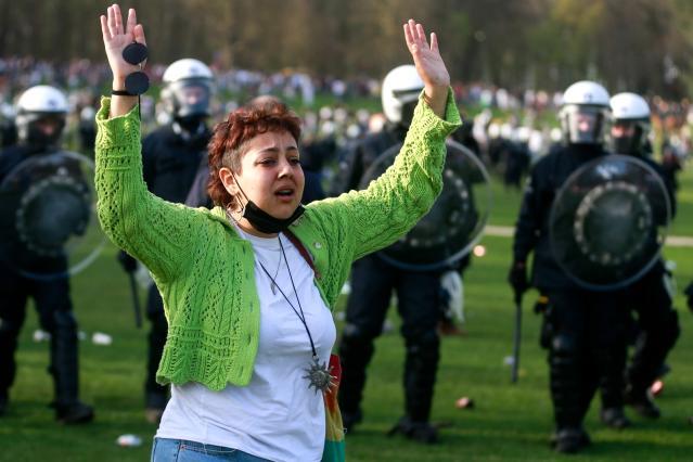 Belçika'da 1 Nisan şakası polis müdahalesi ile son buldu