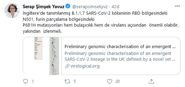 Bilim Kurulu üyesi koronavirüsün daha bulaşıcı mutasyonuyla ilgili konuştu: Önemli olabilir, yakından izlenmeli