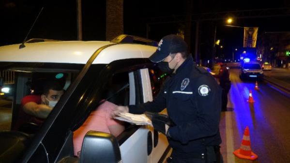 Buca'da tam kapanma denetimleri sürüyor; 17 kişiye 53 bin lira ceza
