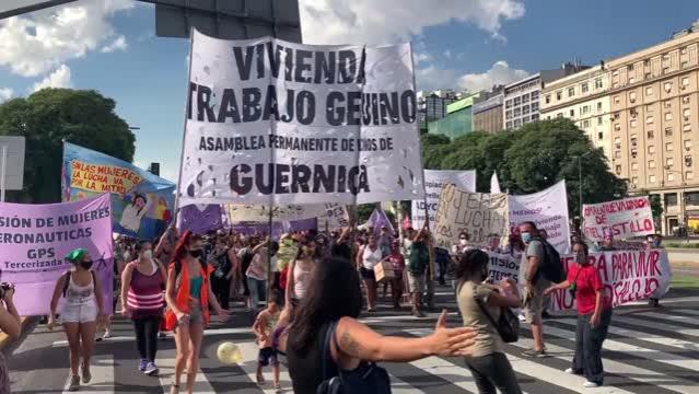BUENOS AIRES - Arjantin'de 8 Mart Dünya Kadınlar Günü yürüyüşü düzenlendi