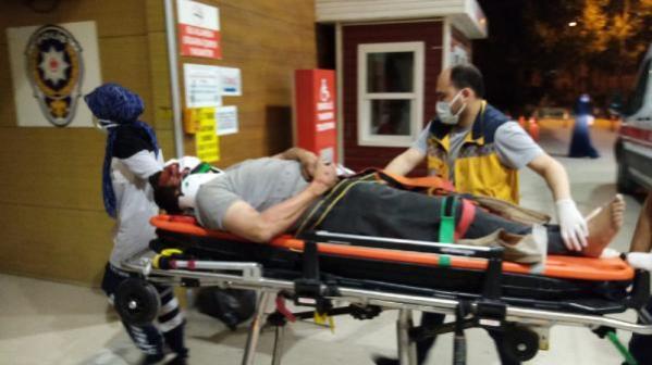 Bursa'da motosikletten düşüp 50 metre sürüklenen sürücü ağır yaralandı