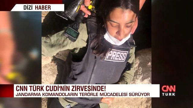 Teröristlerin sığındığı mağarada yayın yapan CNN Türk muhabiri Fulya Öztürk bayıldı