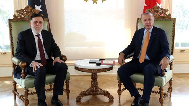 Cumhurbaşkanı Erdoğan ile Serrac görüşmesinde Libya ve bölgesel gelişmeler ele alındı