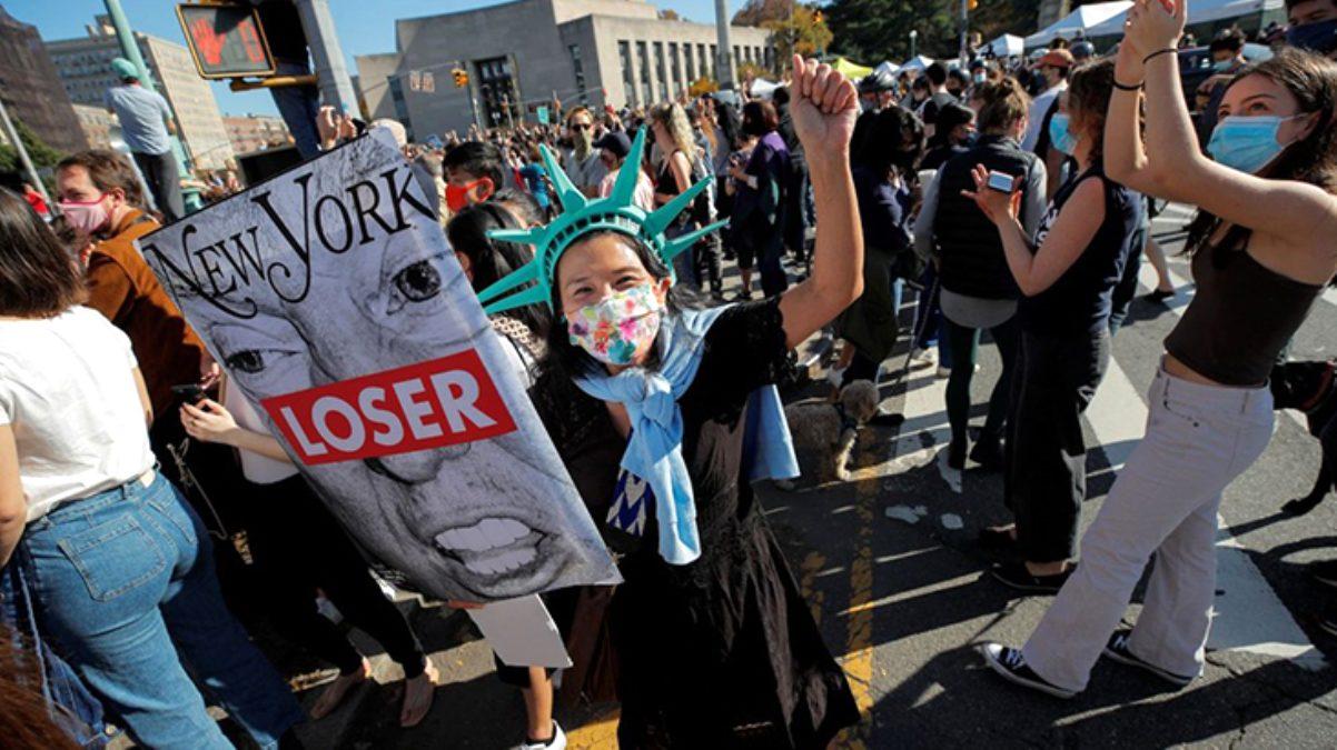 ABD'de halk Biden'ın zaferini kutluyor! Sokaklar doldu taştı