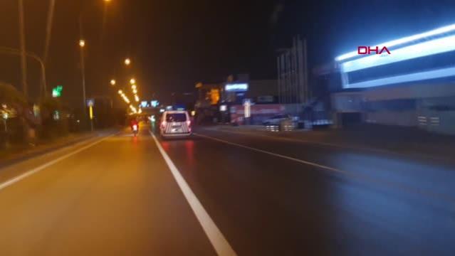 Adana'da motosikletle 5 kilometre kaçtı, yakalanınca