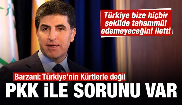 Barzani: Türkiye'nin Kürtlerle değil PKK ile sorunu var