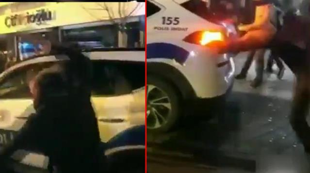 Boğaziçi eylemlerinde provokatörler iş başında! Polis aracına saldırdılar