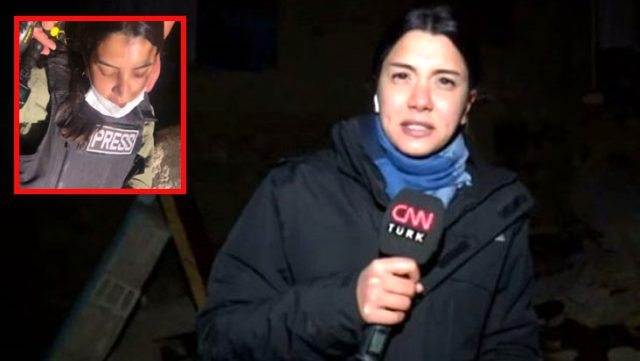 CNN Türk muhabiri Fulya Öztürk'ün zor anları! Yayın yaptığı mağarada bayıldı, çığlık çığlığa kaldı