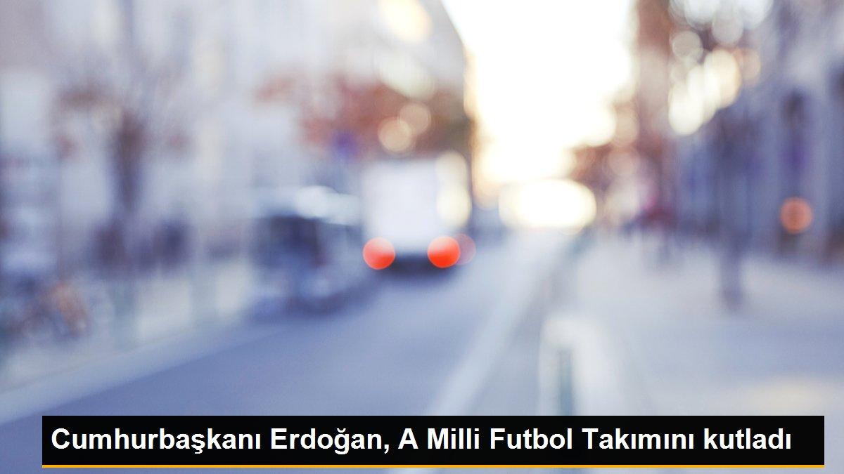 Cumhurbaşkanı Erdoğan, A Milli Futbol Takımını kutladı