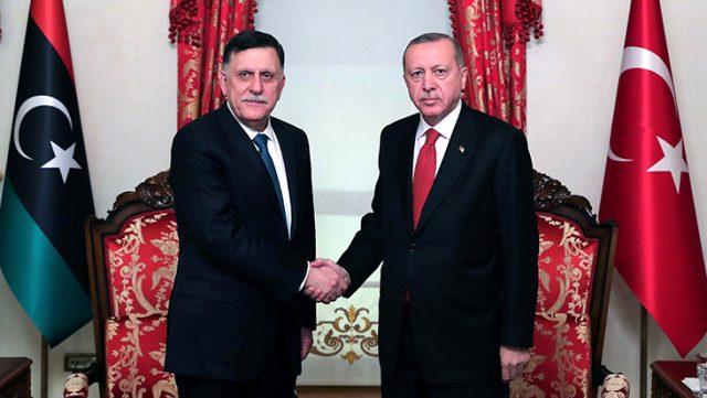 Cumhurbaşkanı Erdoğan'ın, Libya Başbakanı Serrac'ı kabulü sona erdi