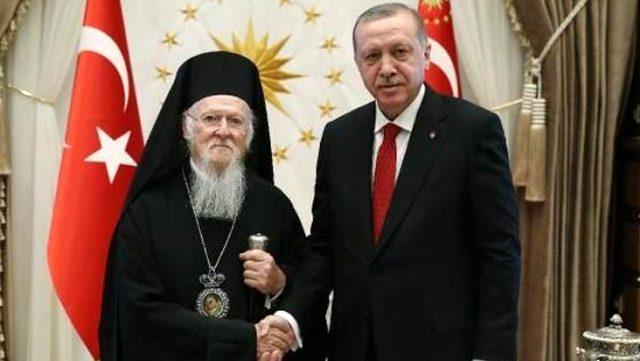 Fener Rum Patriği Bartholomeos'tan Cumhurbaşkanı Edoğan'a Sümela Manastırı teşekkürü