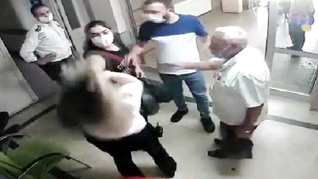 Hastanede ortalık bir anda karıştı! Kadın güvenlik görevlisi, uyardığı ziyaretçinin saldırısına uğradı