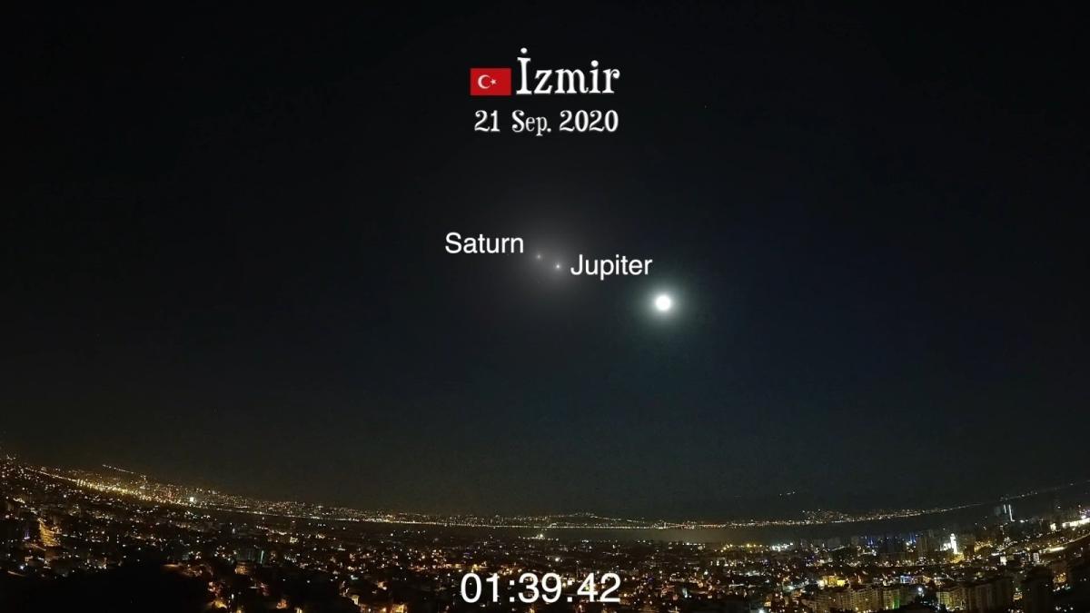 Jüpiter ve Satürn gökyüzünde buluştu