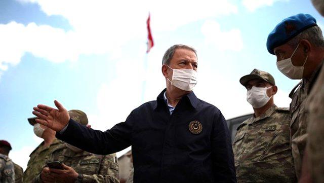 Milli Savunma Bakanı Hulusi Akar'dan Yunanistan sınırındaki birliklere sürpriz denetim