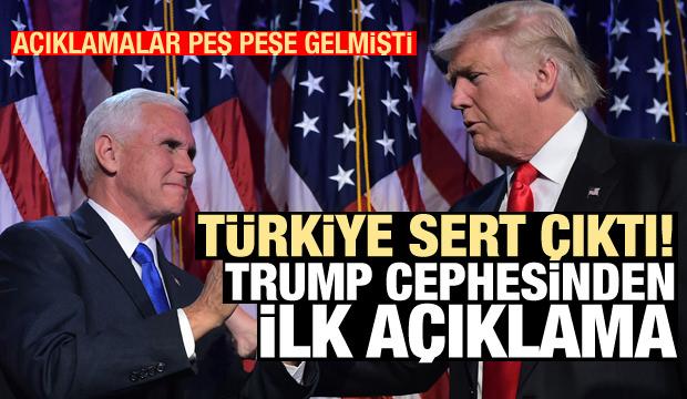 Son Dakika: Bir hafta sonra Trump cephesinden bomba Türkiye açıklaması
