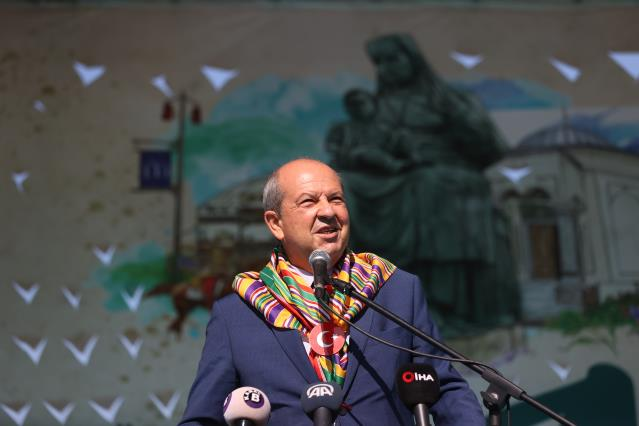 Son dakika haber: KKTC Cumhurbaşkanı Ersin Tatar, 740. Hayme Ana'yı Anma ve Göç Şenlikleri'nde konuştu Açıklaması