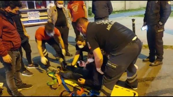 Son dakika haber | PENDİK'TE YOLA DÖKÜLEN YAĞ, MOTOSİKLET KAZASINA NEDEN OLDU: 1 YARALI