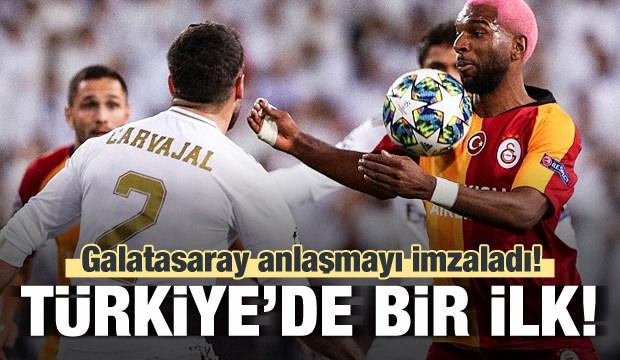 Türkiye'de bir ilk! Galatasaray imzayı attı