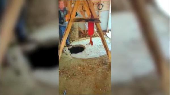 Define bulmak amacıyla kulübede kuyu açan 4 kişi suçüstü yakalandı