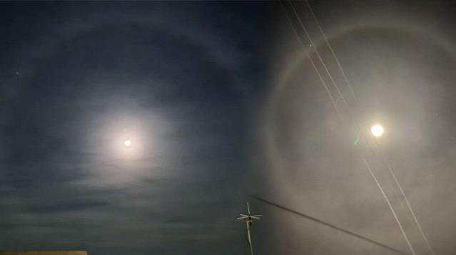 Depremin ardından bir çok ilde görülen 'ay halkası' vatandaşları tedirgin etti