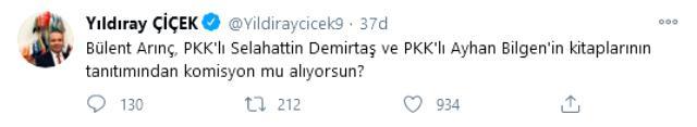 Devlet Bahçeli'nin Basın Danışmanı'ndan Bülent Arınç'a jet yanıt: Demirtaş'ın tahliyesini istemek haysiyetsizliktir