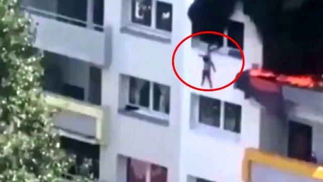 Fransa'da bu görüntüleri konuşuyor! İki çocuk ölümden böyle kaçtı