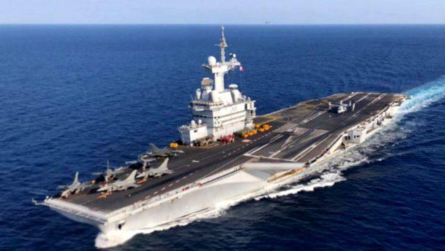 Fransa gerilimi tırmandırıyor! Donanmanın en güçlü silahı Doğu Akdeniz'e doğru yola çıktı