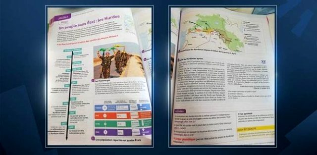 Fransa'nın Türkiye düşmanlığı devam ediyor! Lise kitabından terör örgütü YPG/PKK propagandası