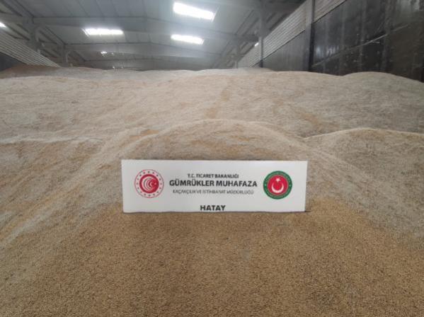 Hatay'da değeri 15 milyon lira olan 5 bin ton genetiği değiştirilmiş pirinç ele geçirildi