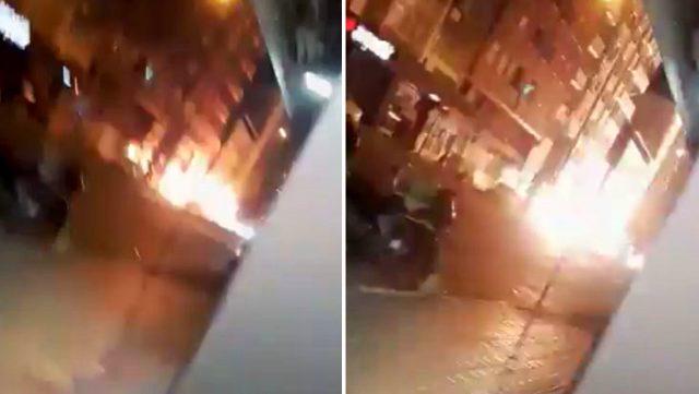 Hatay'da teröristlerle girilen çatışma ve patlama anına ilişkin görüntüler ortaya çıktı