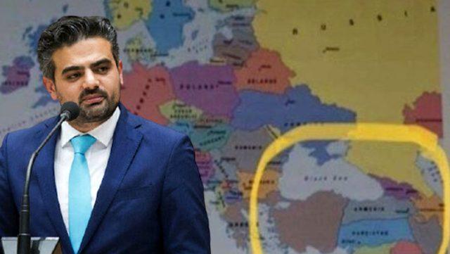 Hollanda'da Türkiye'yi parçalanmış gösteren harita, Türk vekilin tepkisi üzerine düzeltildi