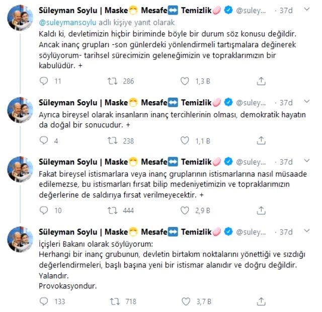 İçişleri Bakanı Soylu'dan 'Tarikatlar devlete sızdı' iddiasına sert yanıt: Provokasyon
