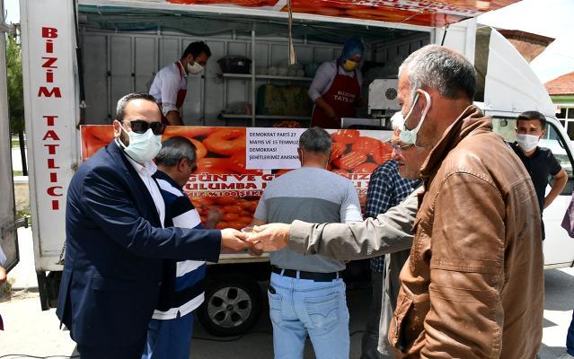 İscehisar Belediyesi demokrasi şehitlerini unutmadı