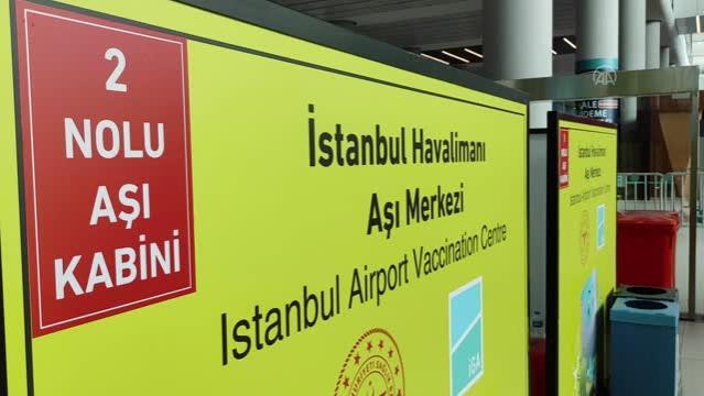 İstanbul Havalimanı'nda çalışanlar için aşılama birimleri oluşturuldu