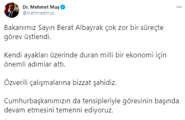 İstifa iddiası sonrası AK Parti'den Erdoğan'a Berat Albayrak çağrısı: Görevine devam etmesini temenni ediyoruz