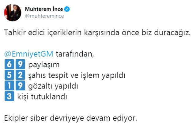 İzmir depremiyle ilgili provokatif paylaşım yapan 3 kişi tutuklandı