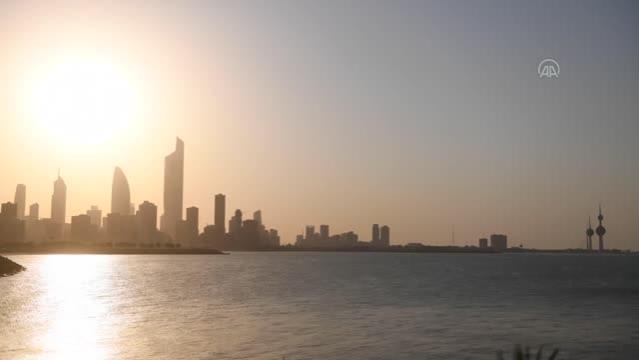 Kuveyt'te gün batımı
