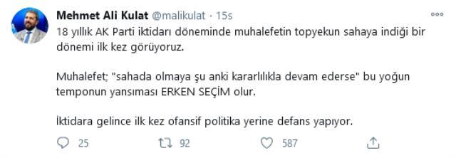 MAK Danışmanlık: 18 yıllık AK Parti iktidarı döneminde muhalefetin topyekun sahaya indiği bir dönemi ilk kez görüyoruz