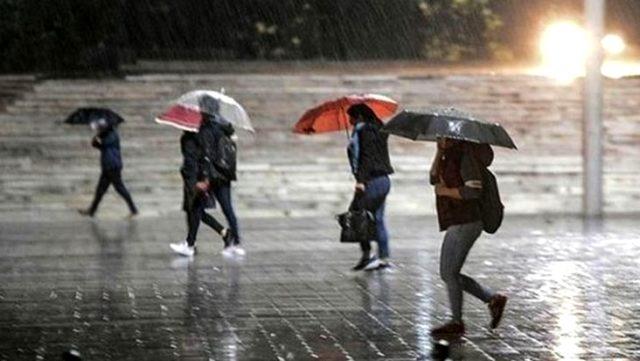 Meteoroloji'den 10 il için sağanak ve gök gürültülü yağış uyarısı