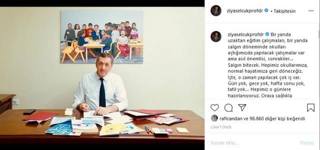 Milli Eğitim Bakanı Selçuk'tan yüz yüze eğitim mesajı