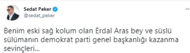 Peker, 'Eski sağ kolum' dediği Erdal Aras ve Süleyman Soylu'nun fotoğrafını paylaştı
