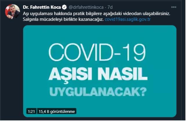 Sağlık Bakanı Fahrettin Koca paylaştı! İşte 8 adımda koronavirüs aşısıyla ilgili tüm merak edilenler