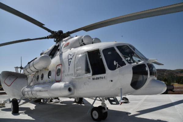Son dakika haberleri... Orman yangınları için kiralanan helikopter Eskişehir'de konuşlandırıldı