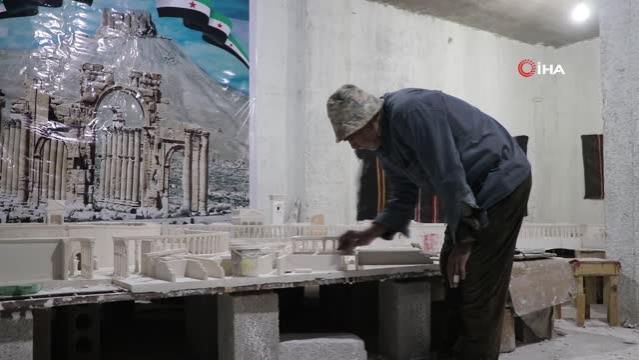 Son dakika haberleri! Suriyeli Ali Taha, doğduğu Palmira antik kentinin hasretini maketiyle gideriyor